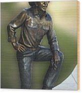 President Ronald Reagan Statue Wood Print