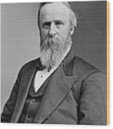 President Rutherford Hayes Wood Print