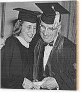 President Truman And Daughter Wood Print