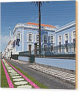 Presidential Palace - Azores Wood Print