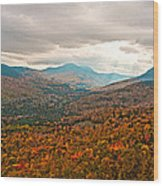 Presidential Range In Autumn Watercolor Wood Print