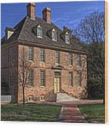President's House College Of William And Mary Wood Print