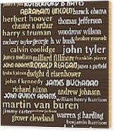 Presidents Of The United States 20130625bwwa85 Wood Print
