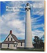 Presque Isle Wood Print