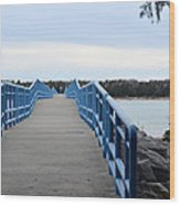 Presque Isle Pier Wood Print