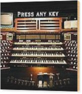 Press Any Key Wood Print
