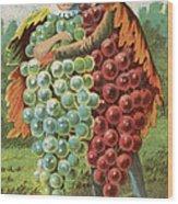 Pressed Grapes Wood Print