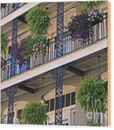 Pretty Balcony Wood Print
