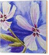 Pretty Flowers Wood Print