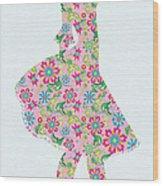 Pretty In Pink Flower Girl Wood Print