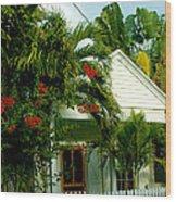 Pretty Key West Florida Wood Print