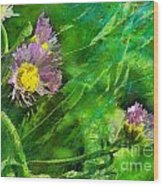 Pretty Little Weeds Photoart Wood Print