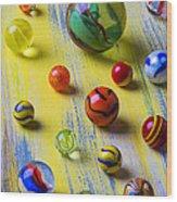 Pretty Marbles Wood Print