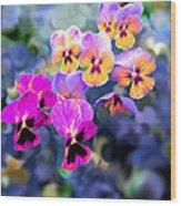 Pretty Pansies 3 Wood Print