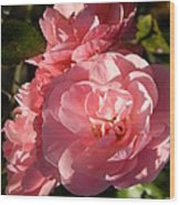 Pretty Pink Bunch Of Roses Wood Print