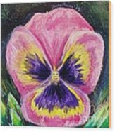 Pretty Pink Pansy Person Wood Print