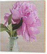 Pretty Pink Peony Wood Print