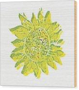 Pretty Sunflower  Wood Print by Lynn-Marie Gildersleeve