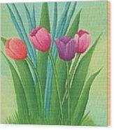 Pretty Tulips Wood Print