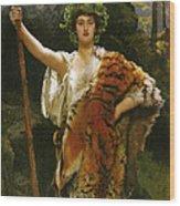Priestess Bacchus Wood Print