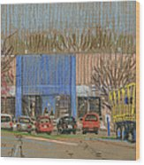 Primary Loading Docks Wood Print by Donald Maier