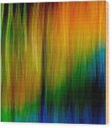 Primary Rainbow Wood Print
