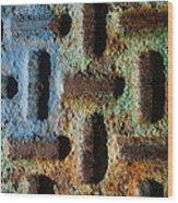 Primary. Secondary..rust... Wood Print