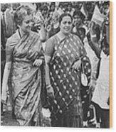 Prime Minister Indira Gandhi Wood Print