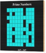 Prime Numbers As Invisible 307  397 Wood Print