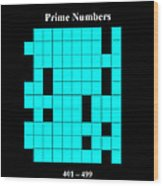 Prime Numbers As Invisible 401  499 Wood Print