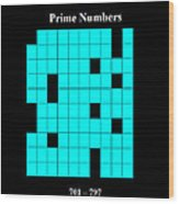 Prime Numbers As Invisible 701  797 Wood Print