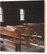 Primitive Church Wood Print