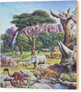 Primitive Mammals Wood Print
