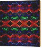 Primitive Textured Shapes Wood Print