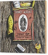 Prince Albert Nailed To The Wall Wood Print by Bob Hallmark