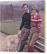 Prince Charles And Lady Diana Wood Print by Retro Images Archive