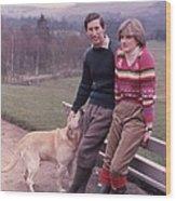 Prince Charles And Lady Diana Wood Print