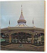 Prince Charmings Regal Carousel Wood Print