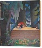 Prince Kisses Snow White Wood Print