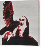 Prince Of Darkness And Friend Wood Print