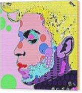 Prince Wood Print by Ricky Sencion