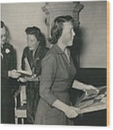 Princess Beatrix Of The Netherlands Receives Her Birthday Wood Print