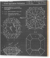 Princess Cut Diamond Patent Barcode Gray Wood Print