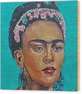 Princess Frida Wood Print