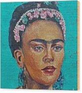 Princess Frida Wood Print by Lilibeth Andre