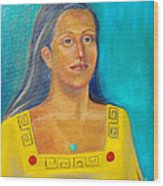 Princess Izta Wood Print