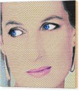 Princess Lady Diana Wood Print