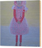 Princess Needs Pink New Hair Wood Print by Elizabeth Stedman
