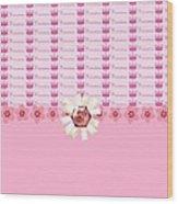 Princess Pink Crowns Wood Print by Debra  Miller