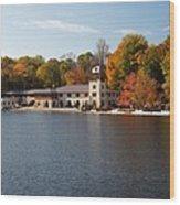 Princeton Crew Boathouse Princeton New Jersey Wood Print